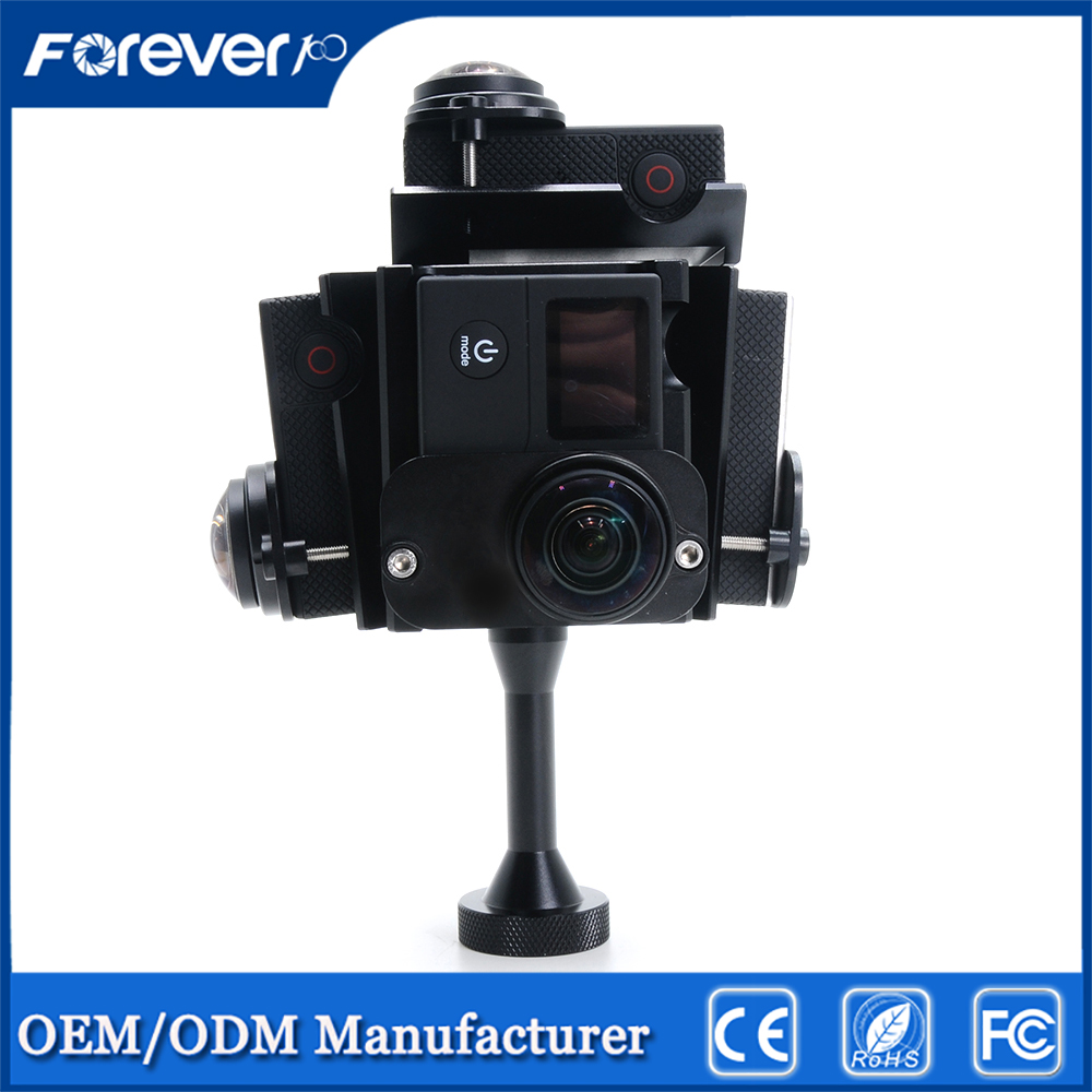 Supports 5 Gopros Camera Mounts Panoramic standing Bracket panorama frame Used for conference live
