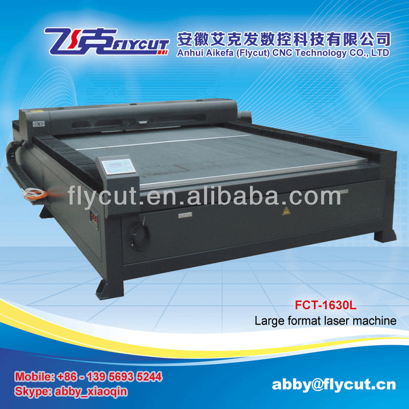 Flycut FCT-1530L large format big power 150W laser cutting machine with factory price