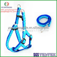 New products blue dog collar with dog leashes factory direct
