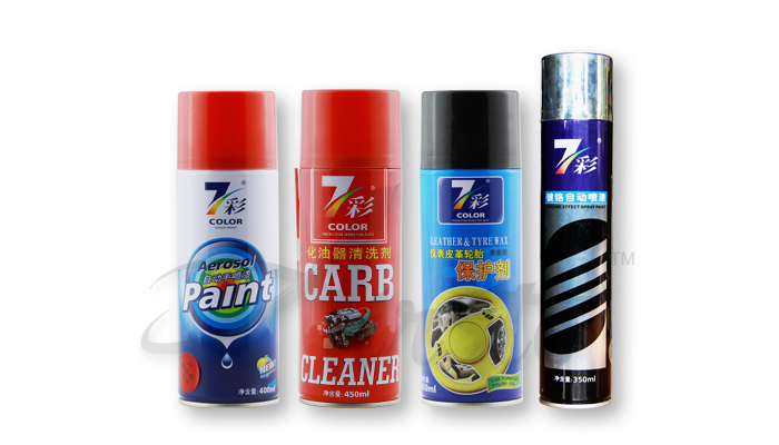Aérosol produit de soin de voiture