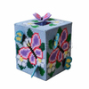 Handmade Tissue Box Multicolor Butterfly Flower Beautiful Embroidery Crafts Cross Stitch For Gifts