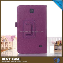 Factory wholesale leather back case for samsung galaxy tab 4 t230 t231 t235 Tablet holster cover