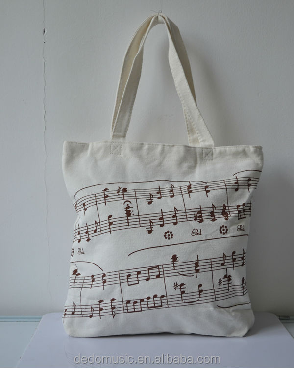 Customized music notes canvas travelling bag
