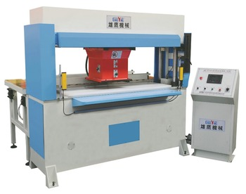 automatic clips feeding PLC traveling head leather die cutting machine