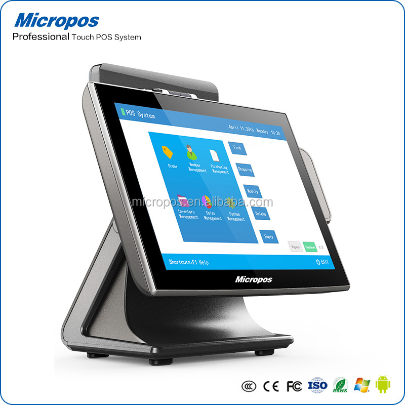High quality restaurant cash register touch pos payment terminal