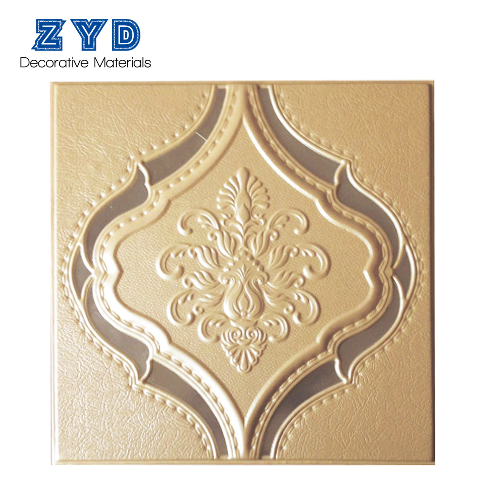 Custom Mould-Proof water resistant 3d decorative leather wall panel