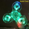 trade assurance new Focus Toy LED Flash Light Crystal fidget Spinner