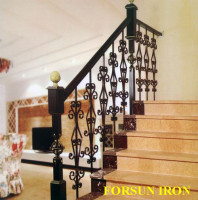 Wrought Iron Balustrade Bannister Steel Handrail / Stair rail ORNAMENTAL