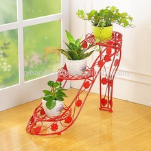 3 Tiers Metal Shelves Display Flower Pots Indoor Plant Stand, Outdoor Garden Racks