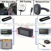 H.264 IR Remote 2ch sd card mobile dvr