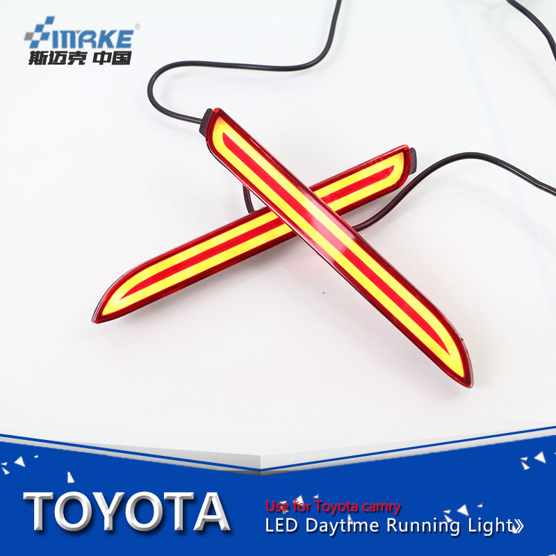 Car styling for 2013-2015 toyota innova led rear bumper reflector, brake light for innova