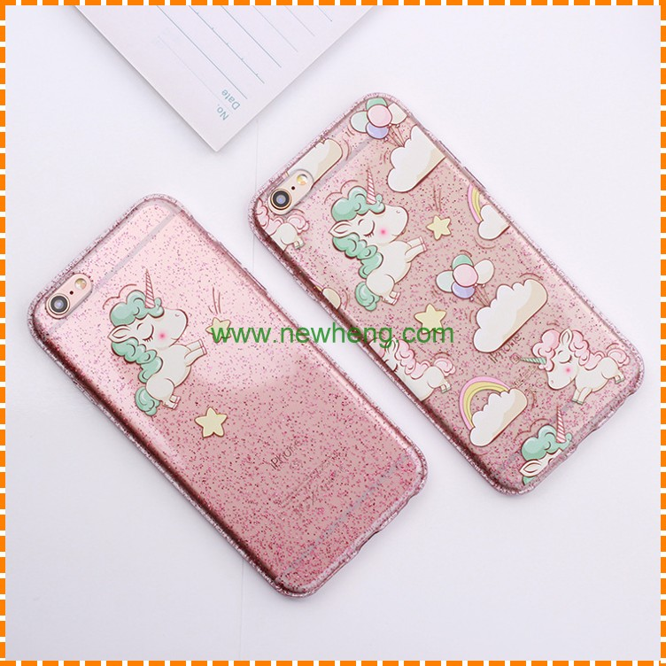 Hot selling Soft TPU Glitter Phone Case For Iphone 7 Plus
