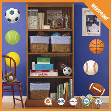 Long term usage reusable transparent play basketball wall stickers