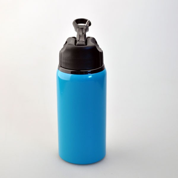 portable hiking bicycle Aluminium water bottle with straw
