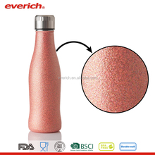 Everich 350ml/500ml/750ml/1000ml Double Wall Vacuum Insulated Cola Shape Glitter Stainless Steel Water Bottle