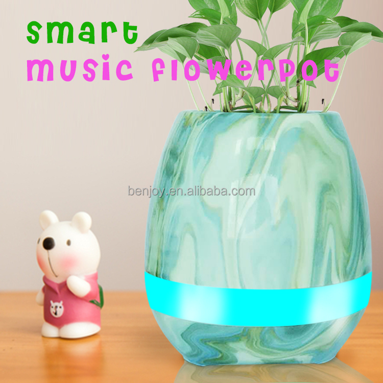 Customized Professional Good Price Of Music Flower Pot For Office And Homen Home Office Furnish Decorate Gift