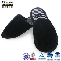 High Quality Black Hotel Slippers Shoe For Man Indoor
