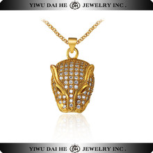 NC4786 Brand Pave Zircon Leopard Necklace Animal Shaped Jewelry With Brass Chain Chunky Statement Cool Necklaces