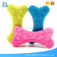 Pet Accessories Paw Design Pets Play Strong Rubber Bone Dog Toy
