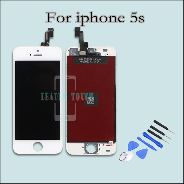 1 piece high quality & original lcd for iphone 5s screen digitizer assembly replacement in black or white competitive price