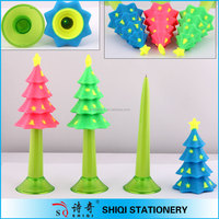 wholesale rubber christmass tree pen,plastic pen