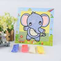 custom DIY colored christmas kids art sand puzzle painting games fun eva activities toy project supplier kids diy crafts