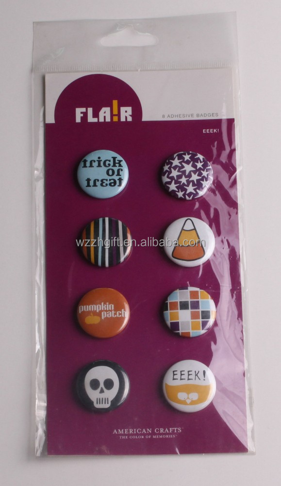 Badge button sticker set,scrapbooking products, embellishment , button , craft products