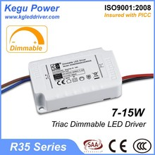 104 KEGU R35 7-15W Triac Dimmable LED Driver dimmable driver for led with CE SAA