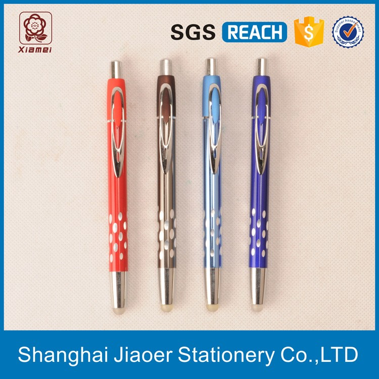 promotional erasbale metal boll point pen inkless metal pen (X-8818)