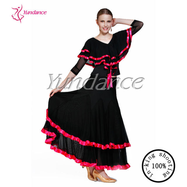 New Practice Dance Wear Spanish Costumes For Women 2016 AB038