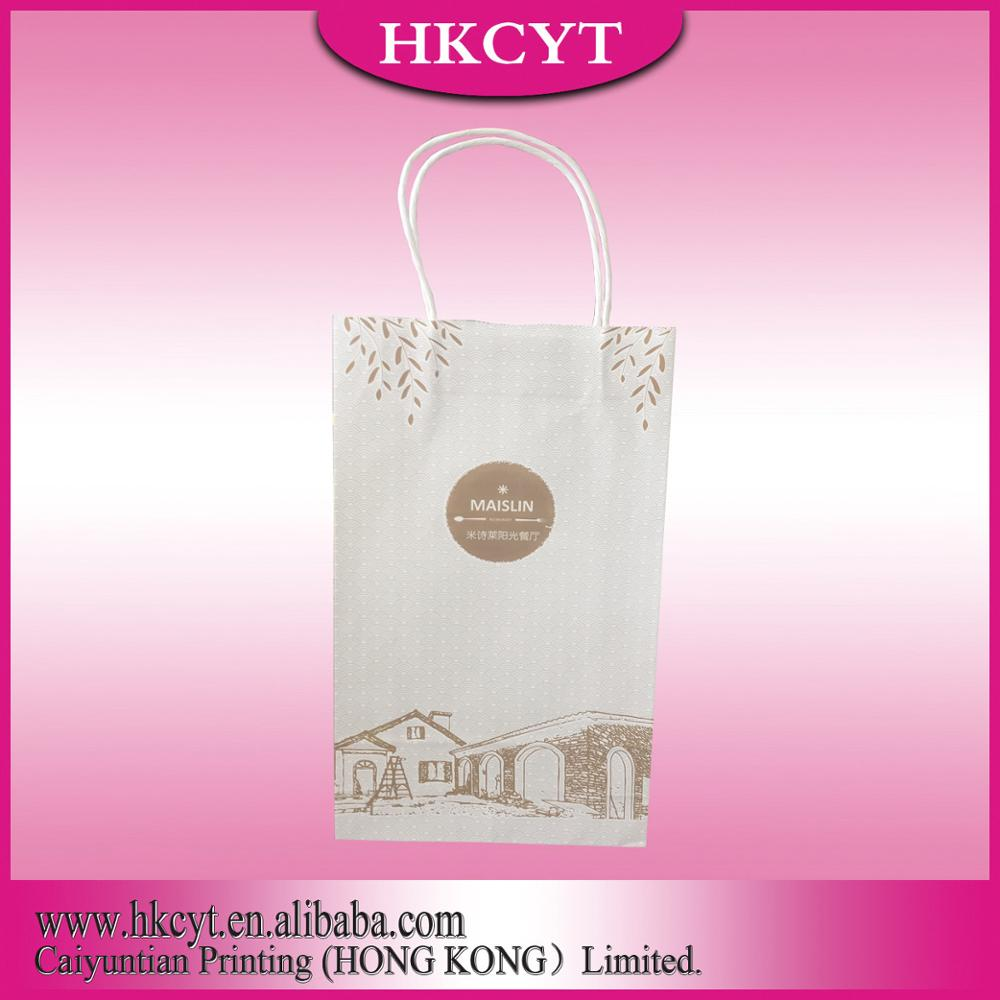 Simple Design Bulk buy from China Cheap Large brown paper bags with handles