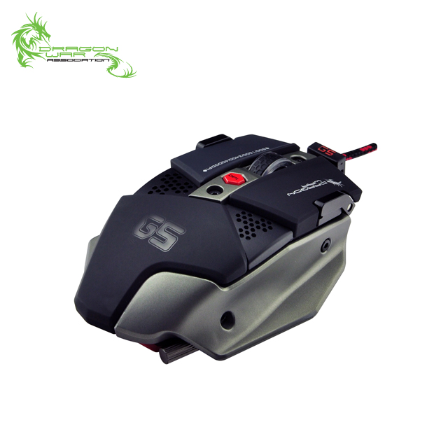 Dragon war brand logo tournament level laser optical USB computer PC competition wired mouse