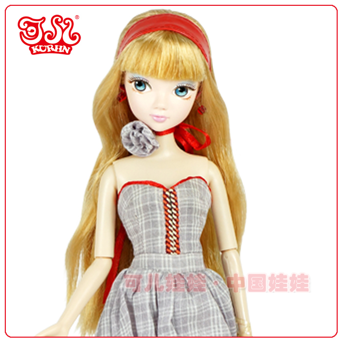 Fashion doll plastic vinyl doll party gown