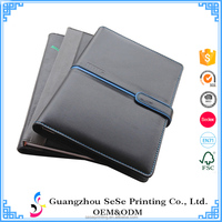 Custom logo leather cover notebook, spiral notebook printing