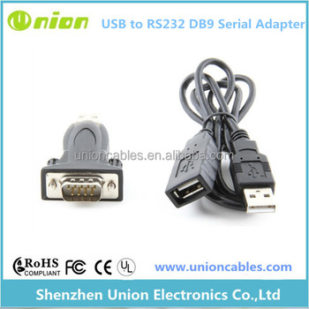 FTDI Chipset USB 2.0 to Serial DB9 RS232 Adapter