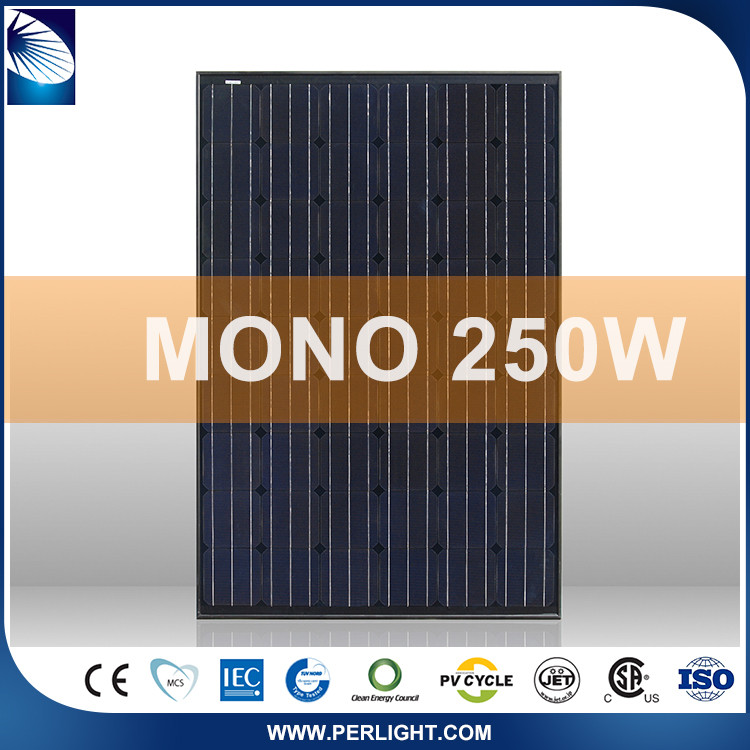 Hot Selling Monocrystalline Solar Panel 250W Rooftop System