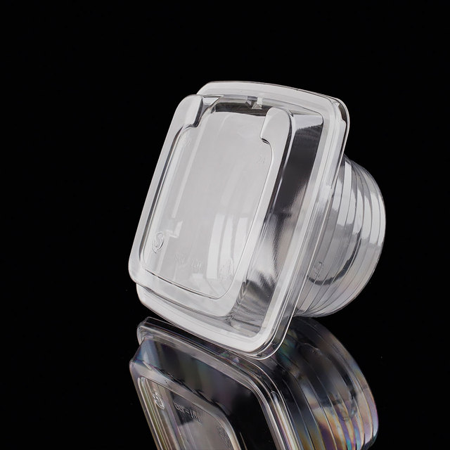 Small clear plastic square box/case/container with lid