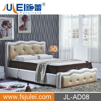 Modern Luxury Bed, JL-AD08, Leather Bed box