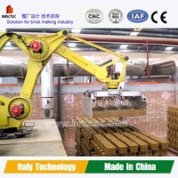 Automatic clay brick block stacking machine