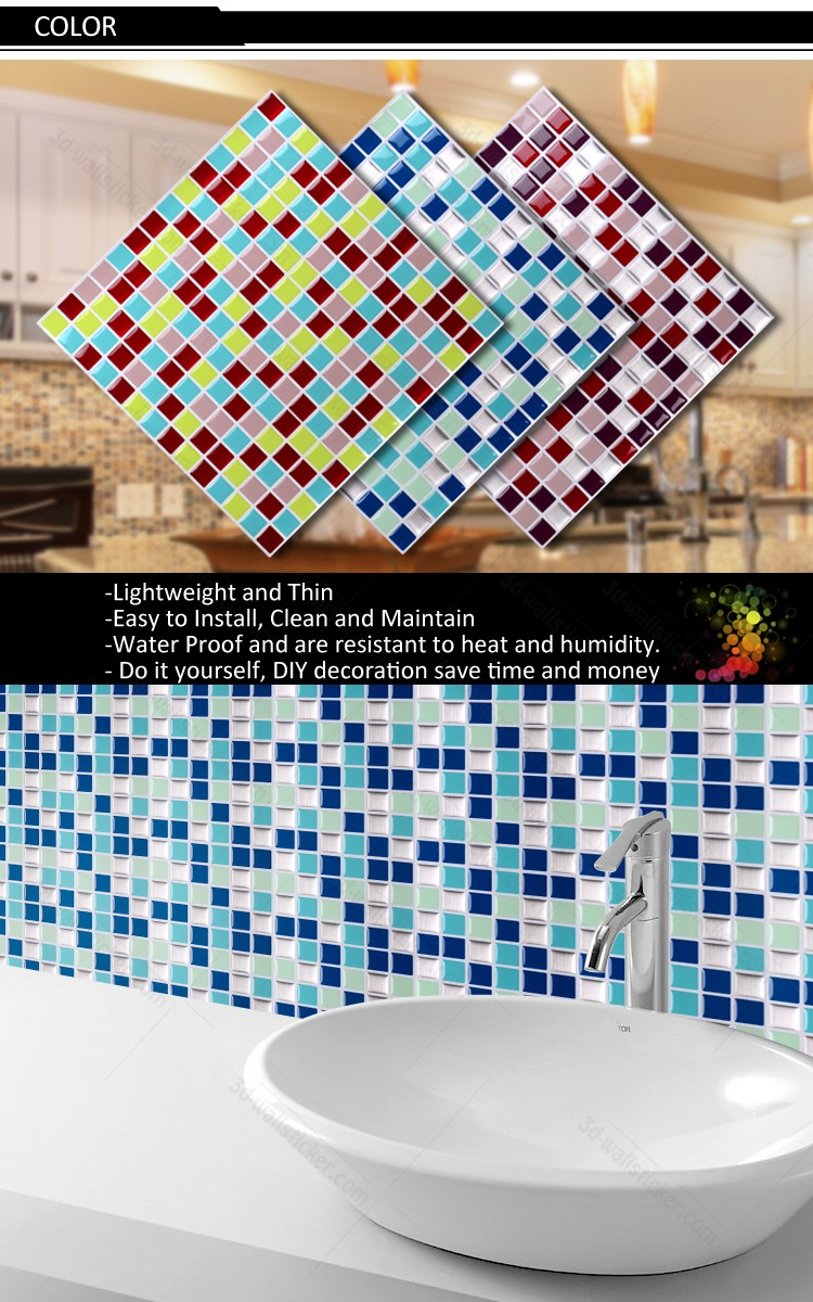 Bathroom Mosaic Art Design The Safe And Eco-friendly Self-adhesive ...