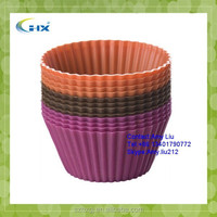 G-2015 Wholesale Kitchen Supplies Rectangular & Round Mini Silicon muffin form