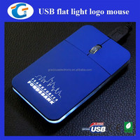 Super slim flat wired mini mouse PC with led logo