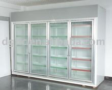 Glass door display cold room for supermarket displaying
