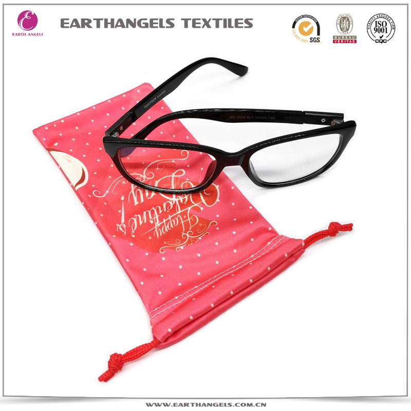 Custom printing high quality microfiber reading glasses pouch