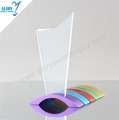 Custom Plaque Crystal Blank Glass Trophy with Colorful Metal Base