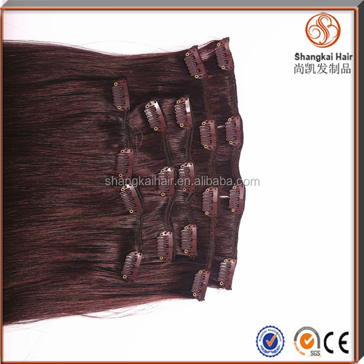 2016 New Products Brazilian Human Remy Hair Wholesale High Quality Full Head Lace Weft Clip In Hair Extensions