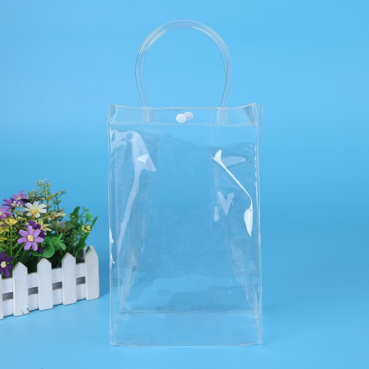 hot style china manufacture custom laminated pp clear pvc tote bags no minimum