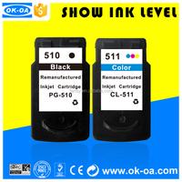 Best seller!refillable ink cartridges for Canon PG-510 CL-511 tinten patronen with premium ink