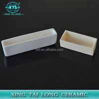 Lab High purity alumina ceramic crucible 99 alumina crucible boat