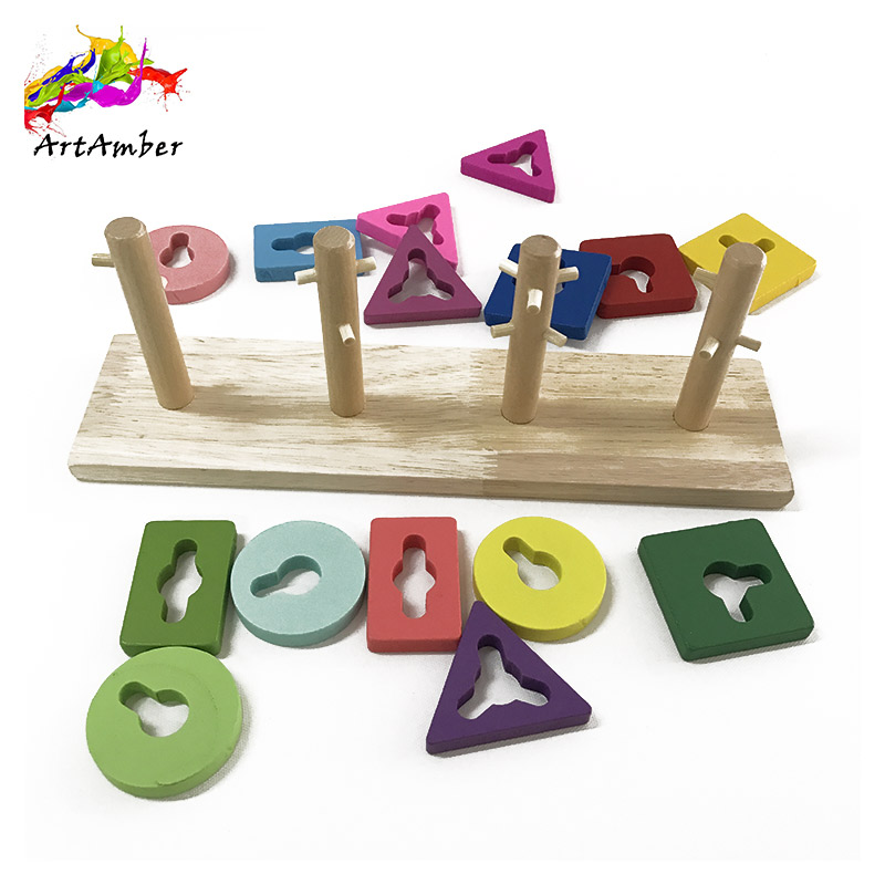 Puzzle game intelligent wooden toddler toys
